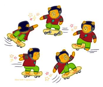 Skateboarding Bear Rocks!