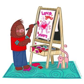 Sasquatch Valentine