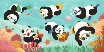Ten Cuddling Pandas